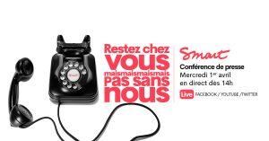 Conférence de presse le 1er avril à 14h